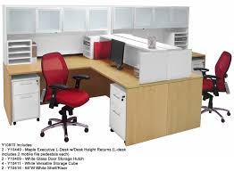 Engineering Office Furniture by Maple U0026 White 2 Person Shared Workstation