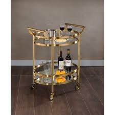 Dining Room Serving Cart by Belham Living Olivia Round Bar Cart Hayneedle