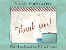 19 travel thank you cards free printable psd eps format