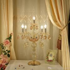 glass table lamp wedding decoration table light bedroom modern