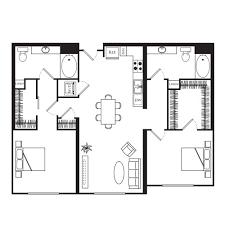 2 Bedroom Flat Floor Plan Domain Apartments San Jose 1 Vista Montana Equityapartments Com