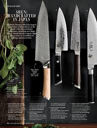 Kitchen Knives Guide by Williams Sonoma May 2017 Catalog Page 104 105