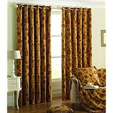 Gold Curtains 90 X 90 Paoletti Zurich Floral Chenille Pencil Pleat Curtains Gold 90 X