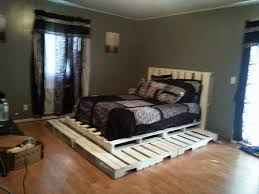 How To Make A Platform Bed Frame From Pallets by Diy White Pallet Platform Bed 99 Pallets