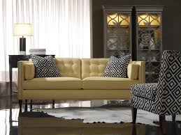 Two Sofa Living Room Sam Moore Eaton Contemporary Two Over Two Sofa With Nailhead Trim