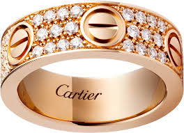 cartier rings images Crb4087600 love ring diamond paved pink gold diamonds cartier png