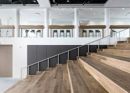 Office Stairs Design by Revamped Sea Containers House Features Open Plan Offices