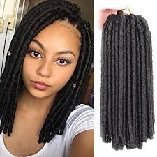 soft dred hair amazon com 3pcs soft dread lock hair twist braids crochet hair