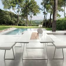 Corian Dining Tables Top 240 Plateau Corian White Dining Table Jardinchic