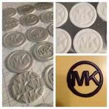michael cake toppers michael kors handmade fondant cupcake toppers chocolate logos