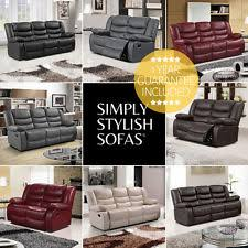 leather recliner sofa ebay
