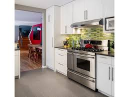 slate laminate flooring kitchen kitchen back door red oven island