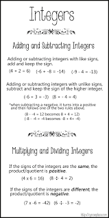 best 25 subtracting integers ideas on pinterest adding and