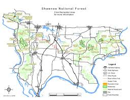 Illinois Interstate Map by Shawnee National Forest Maplets