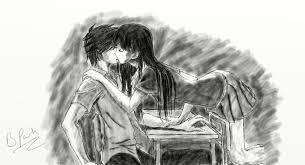 cute anime kiss drawing dablackdevil 2017 jul 14 2011