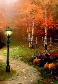 kinkade autumn kinkade the blessing of