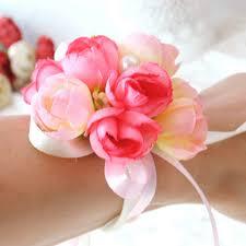 Curtain Band Aliexpress Com Buy Wrist Flower Rose Silk Ribbon Bride Corsage