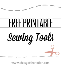 10 for tuesday printable sewing tools