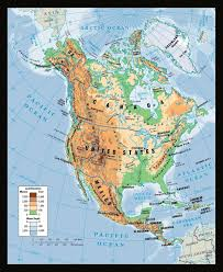 Physical Maps Maps Of North America And North American Countries Political