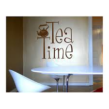 coffee wall sticker large kitchen wall signs tea time wall sticker