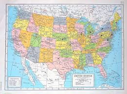 Vintage United States Map by Maps Usa Map With Latitude Map Of Usa With Cities And Latitude