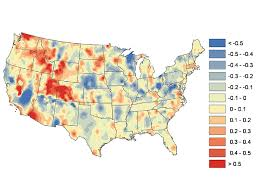 United States Temp Map by New Study Shows How Local Land Use Changes Can Affect Surface