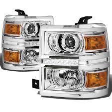 led strip lights headlights 2014 15 chevy silverado 1500 led strip projector headlights chrome