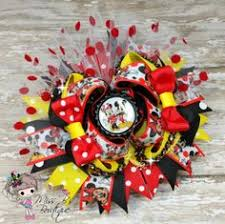 mickey mouse hair bow mickey mouse flower headband w feather products mickey mouse