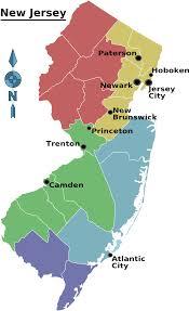 Map Of Jersey City Map Of New Jersey Map Regions Worldofmaps Net Online Maps