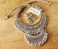 necklace sets images Designer statement jewellery set ethnic necklace and earrings jpg