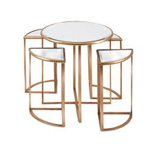 mirrored end table set limba mirror accent tables set of 5 mirrored accent table and products