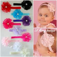 baby hair band lace flower headband lil boutique