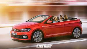 convertible volkswagen cabriolet 2018 volkswagen polo r and gti cabrio rendered autoevolution