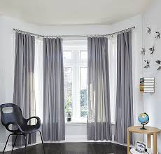 curved curtain rods for bay windows new round bay window curtain
