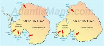 Map Of Antarctica Atlantis Under Antarctica