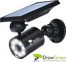 solar motion sensor light 1400 lumens bright led spotlight 5wï ˆ110w