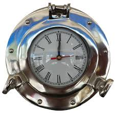 themed wall clock deluxe class porthole decorative wall clock chrome 8
