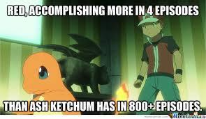 Pokemon Trainer Red Meme - red vs ash by redtrainer meme center