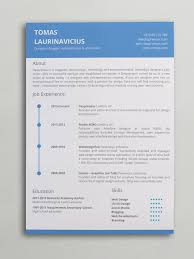 Word Templates Resume Minimal Resume Word Template