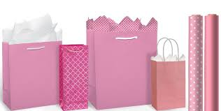 pink gift wrap pink bags gift wrap party city