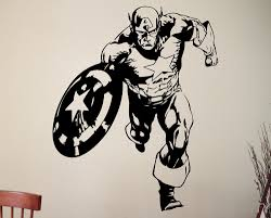 popular marvel comic art buy cheap marvel comic art lots from captain america sticker super hero wall decal marvel comics art vinyl mural home interior children room