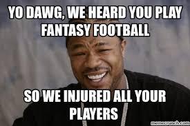 Fantasy Football Meme - football injury