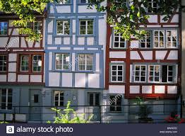 house facades plants row houses bolt constructions half timbered