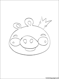coloring angry birds u2013 pig king coloring pages