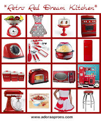 retro red dream kitchen adora aprons blog