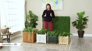 square solid wood lexington planter box product review video