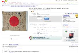 Blood Stained Flag Japanese Battle Flag Retrieved From Corpse For Sale On Ebay York