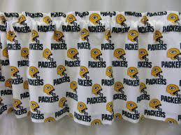 Green Bay Packers Window Curtains Green Bay Packers Nfl Football Valance Curtain Choose Lined