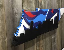 Nashville Flag Tennessee Titans With Nashville Skyline U2013 Country Heritage Creations