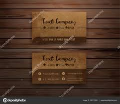 Wood Texture Business Card Vector Recycled Paper Business Cards On Wooden Background U2014 Stock
